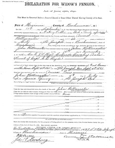 Johann Rottmeister Widow's Pension Application